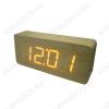 Часы электронные сетевые VST865-1 светло коричневые