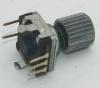 Энкодер а/м 5 pin с кнопкой (08) {R4} Вал 20 мм, металл, накатка d=9мм