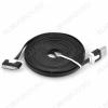 Датакабель iPhone 30pin плоский черный 1 метр