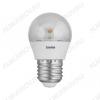 Лампа светодиодная 220В/  5,5Вт/ E27/ 3000К (теплый белый) (L117)/ 445Lm  (LED5.5-G45-CL/830/E27);