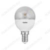 Лампа светодиодная 220В/  5,5Вт/ E14/ Шарик/ 3000К (теплый белый) (L118)/ 445Lm (LED5.5-G45-CL/830/E