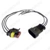 Комплект герметичных разъемов РГ3х1 с проводами
