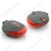 Фонарь велосипедный BL-000 задний светодиодный + лазер 5LED(7режимов работы)+2лазера(2 режима работы), питание от 2хR03(в комплекте)