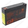 Аккумулятор 6V 7.2Ah GP672 свинцово-кислотный; 151*34*94+6