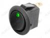 Сетевой выключатель RWB-215 зеленый круглый с подсветкой d=20.7mm; 20A/12V; 3 pin