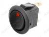 Сетевой выключатель RWB-215 красный круглый с подсветкой d=20.7mm; 20A/12V; 3 pin