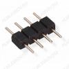Разъем для LED ленты 4pin PLS-04 (Вилка на плату, шаг 2.54mm, аналоги PLS-14, PLS-40 - делить) для подключения RGB-контроллера