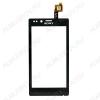 ТачСкрин для Sony Xperia ST26i J черный Orig