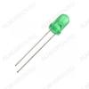 Светодиод LED 5 З; 20M FYL-5013GD Зеленый матовый; 60°; 20mA