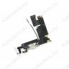 Шлейф для iPhone 6 Plus + разъем зарядки + разъем гарнитуры + микрофон белый Orig