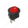 Сетевой выключатель SMRS-101-2 красный круглый d=14.7mm; 3A/250V; 2 pin