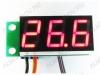 Радиоконструктор STH0014UR встраиваемый цифровой термометр с выносным датчиком, ультра-яркий красный Диапазон измеряемых температур -55°C..+125°C ,датчик DS18B20  с кабелем 5м, Напряжение питания (фильтрованное) +7В..+20В (с радиатором до +35В).