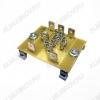 Держатель на DIN-рейку Imax=30A; размеры 50х42х23мм;  для реле, индикаторов, сигнализаторов.