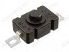 Кнопка PBS-02A (черная с фикс.) 250V; 1.5A
