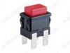 Кнопка SC7097 (красная с фикс. с подсветкой) 250V; 16A; 4pin