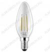 Лампа светодиодная 220В/  4Вт/ E14/ 3000К (теплый белый) (L303)/ 375Lm (LED4-C35-FL/830/E14);