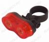 Фонарь велосипедный 2055 задний светодиодный 2LEDx0,5Watt; крепление под сиденье; питание 2xR03, 3 режима работы