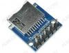 Радиоконструктор Модуль MicroSD/MiniSD-карт RC028 (с разъёмом) Модуль Micro SD CARD с разъемом для установки Micro SD карты флеш-памяти. Обмен информацией с картой памяти происходит по интерфейсу SPI