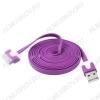 Датакабель iPhone 30pin плоский фиолетовый 1 метр
