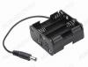 Отсек батарейный (тип 19) AA*8 (2-х рядный) с проводом, штекер 5.5х2.1мм