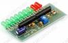 Радиоконструктор Индикатор уровня сигнала светодиодный RL138 линейка из 9 светодиодов с логарифмической шкалой, для отображения уровня звукового сигнала.Uпит=6...12 В;Uвх=~0,7 В;