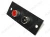 Разъем (122) 2RCA гнезда на панель под винты красный/черный