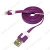 Датакабель Lighting плоский фиолетовый 1 метр