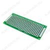 Макетная плата двусторонняя 30*70mm; для DIP-компонентов; шаг 2.54mm