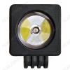 Фара светодиодная 10W квадратная (арт. G8038) сверхдальнего света 1LEDx10W; 12-28 Вольт; Рабочий ток при  12/24V: 2,5/1,25A; Крепление: болт 10мм; Рабочая температура: от -40С до +105С