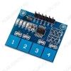 Модуль Клавиатура сенсорная TTP224, модуль сенсорной емкостной клавиатуры на 4 кнопки