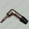 Разъем (0303) 3.5мм штекер моно на кабель метал угловой (1-060)