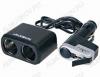 Разветвитель прикуривателя 2 в 1 + USB-разъем (арт. G4009) WF-0097 кабель 0,5м