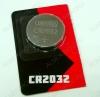 Элемент питания CR2032 3V;литиевые;блистер 5/100