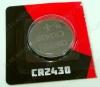 Элемент питания CR2430 3V;литиевые;блистер 5/100