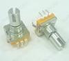 Потенциометр энкодер а/м 5 pin с кнопкой (25) (R0) Вал 14 мм, металл, накатка,