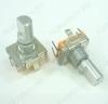 Потенциометр энкодер а/м 5 pin с кнопкой (27) (RU3) (на удержание) Вал 16 мм, металл, лыска