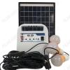 Комплект освещения E-Power HT-1210W на солнечной батарее 10Вт с двумя лампами по 3Вт, блоком управления с аккумуляторной батареей, USB выходом и встроенным радиоприемником с МР3