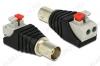 Разъем (2653) BNC-CUJ с быстрозажимной колодкой Гнездо на кабель RG-58/59/6