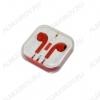 Гарнитура для iPhone 5 красная хром Copi