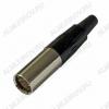 Разъем (1481) mini XLR 3pin штекер на кабель