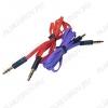 Шнур (TS-3202) 3.5 шт стерео/3.5 шт стерео 1.0м тонкий штекер, плоский кабель, цветной