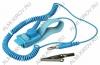 Браслет антистатический ОРБИТА материал: упругие волокна нейлона и ПВХ провода; сопротивление: 103 Ом; длина провода -1.8 м; время разряда- 0.1с.