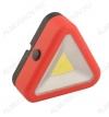 Фонарь интерьерный 1019 светодиодный (форма треугольник) 3Watt COB; питание 3xR03