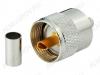 Разъем (2860) UHF-C6P Штекер на кабель RG-6 под обжим