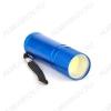 Фонарь металлический 1066 светодиодный 1LED COB 1Watt; цвета в ассортименте; питание 3xR03