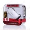 Автомобильное зарядное устройство с выходом USB белое 2100mAh (RCC101)