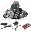 Фонарь налобный RJ(BR)-3000 светодиодный аккумуляторный 1LED CREE XML L2+ 2LED RED; питание от аккум(2x18650)(в комплекте демонстрационные) Зарядка через кабель microUSB