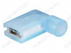 Клемма ножевая (№193) 6.4x0.8 гнездо FLDNY2-250 угловая изолированная нейлон сечение 1.5-2.5 мм2; синяя