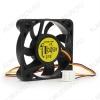 Вентилятор 12VDC 50*50*10mm D50SM-12AS 3-pin с датчиком оборотов 0.12A; 4500 об; 24dB; Sleeve