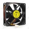 Вентилятор 12VDC 80*80*25mm FANCASE/BALL 3-pin с датчиком оборотов 0.16A; 2600 об; 27dB; Ball